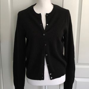 J Crew Collection Black Cashmere Cardigan FLAWS
